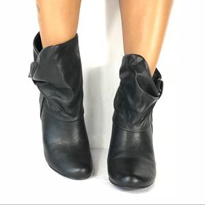 a.n.a Black Ankle Rushed Booties Sz 7